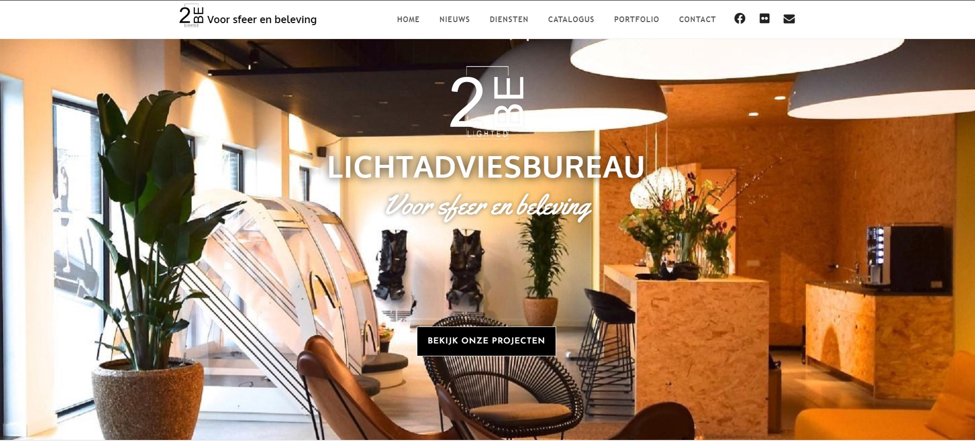 Nieuwe website van Lichtadvies buro 2BE LIGHTED-LightWorks vanaf heden in testfase online